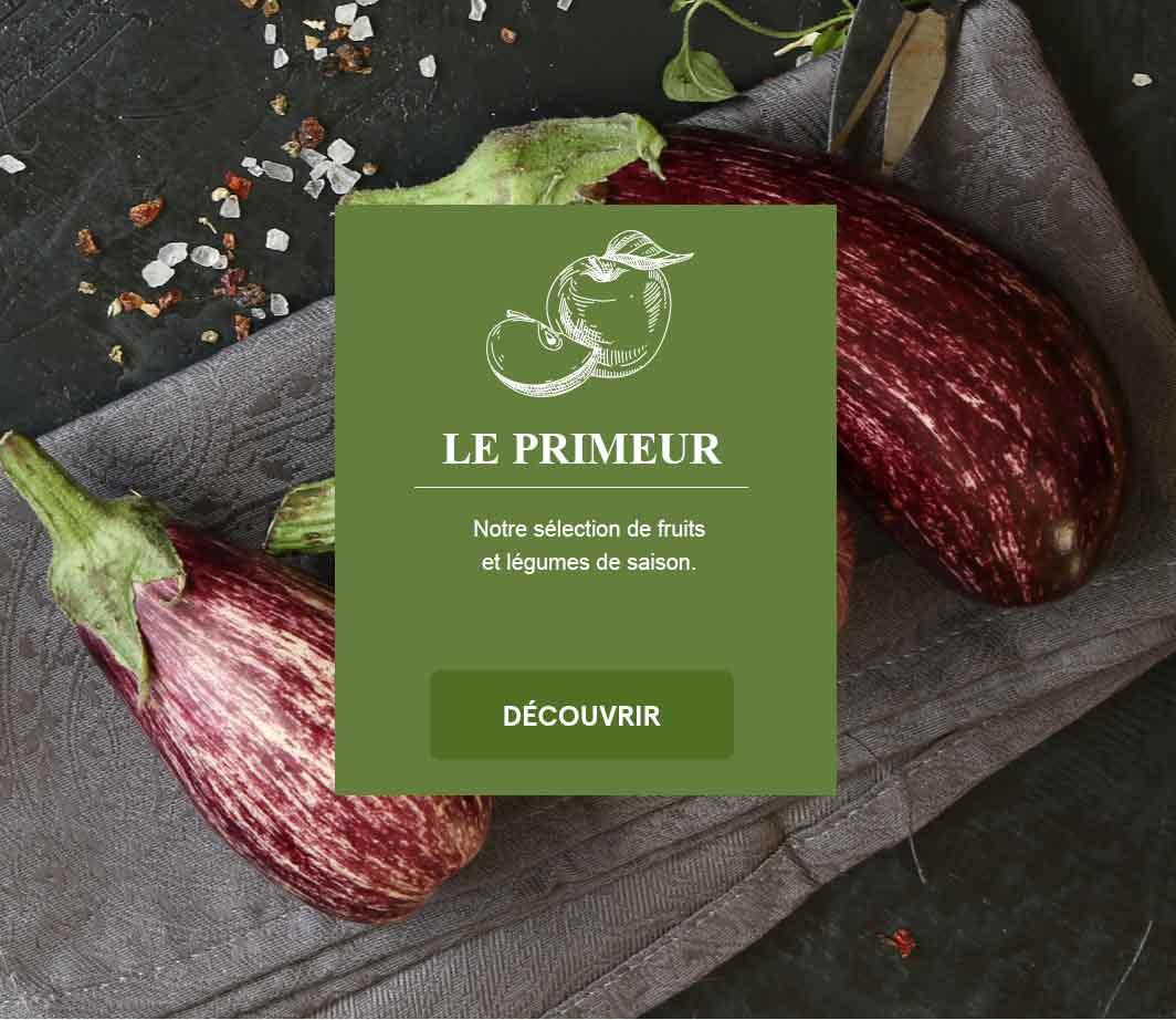 La Halle - Primeur (page html)