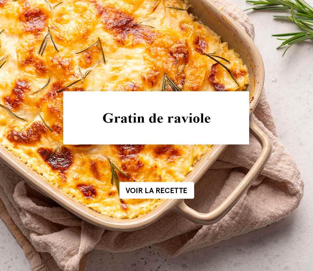 Recette gratin de ravioles