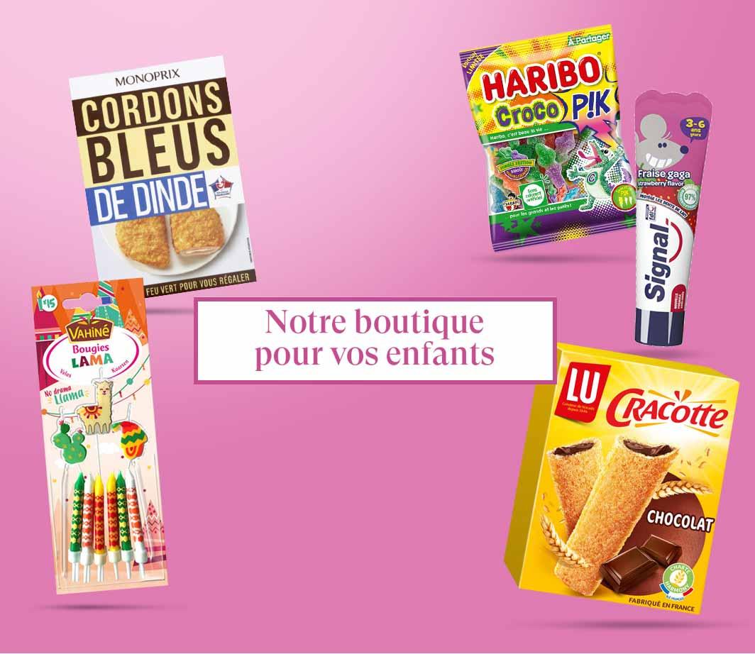 Boutique Enfants - page html