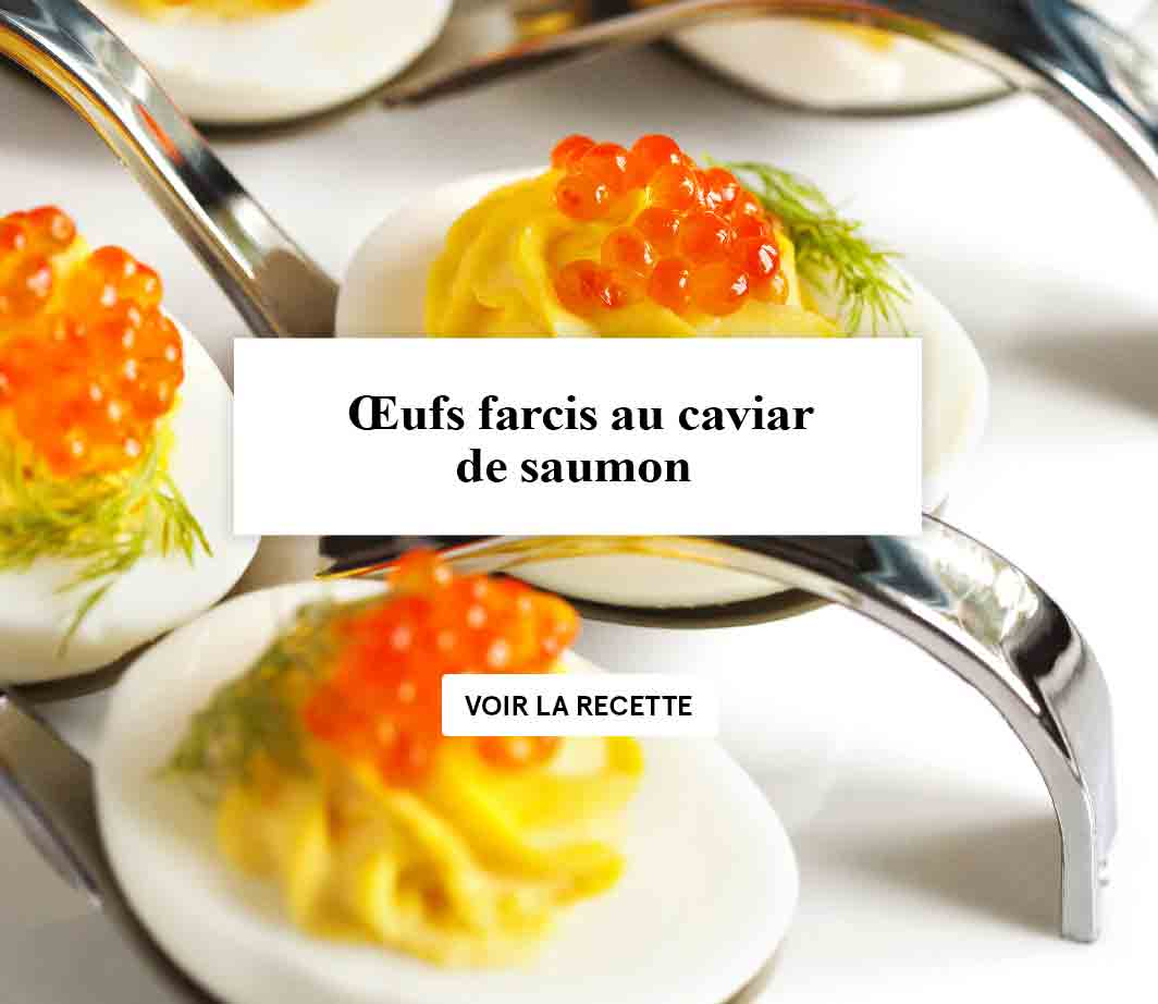 Recette oeuf farci caviar - produits russes