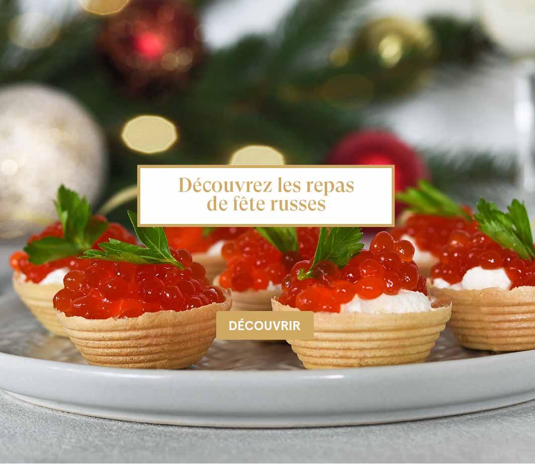 Découvrez les repas de fête russes