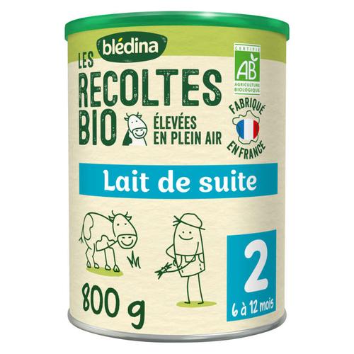 Bledina Blédina Les Recoltes Bio Lait De Suite 2Ème Âge 800G De 6 À 12 Mois.