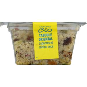 Monoprix Bio taboulé oriental légumes et raisins sec bio 200g