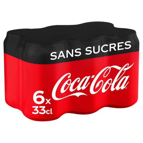 Coca-Cola sans sucres pack 6x33 cl