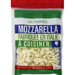 Monoprix cossettes mozzarella 150g