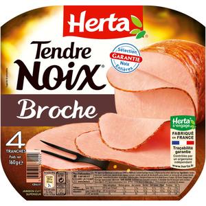Herta Tendre Noix Jambon Broche x4 - 160g