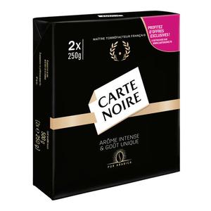 Carte Noire café moulu arome intense 2X250g