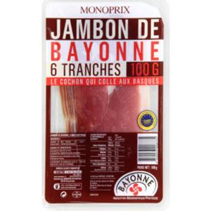Monoprix Jambon de Bayonne 100g