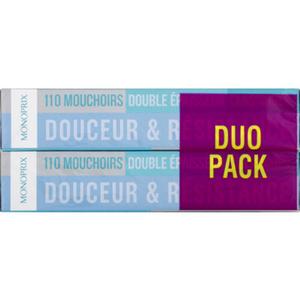 Monoprix boîte de mouchoirs classique duopack 2x110
