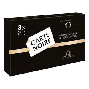 Carte Noire Café Moulu Arôme Intense 3 x 250g.