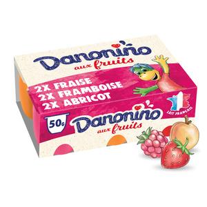 Danonino petits suisses aux fruits 6x50g