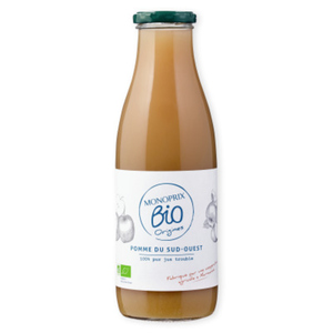 Monoprix Bio pur jus de pomme sud ouest la bouteille de 75cl