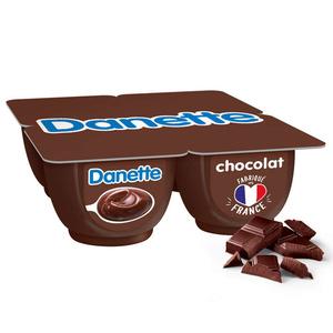 Danette crème dessert chocolat le pack de 4x125g