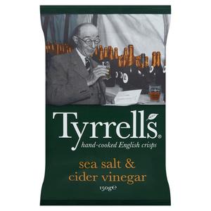 Tyrrell's Chips au sel et vinaigre 150g.