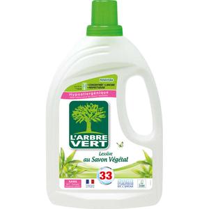 L'Arbre Vert Lessive au Savon Végétal 33 Lavages 1,5l