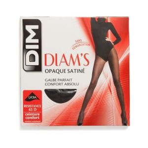 Collant Satiné Jambes Galbées, Noir, 45D, Diam'S - Dim