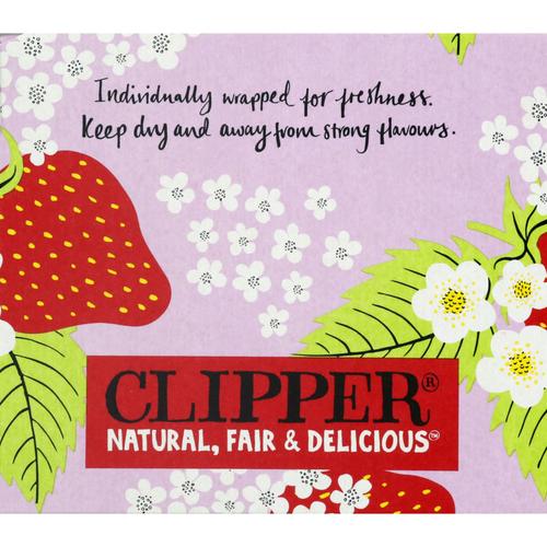 Clipper Infusion Bio Fraise & Fleur de Sureau 20 Sachets 40g.