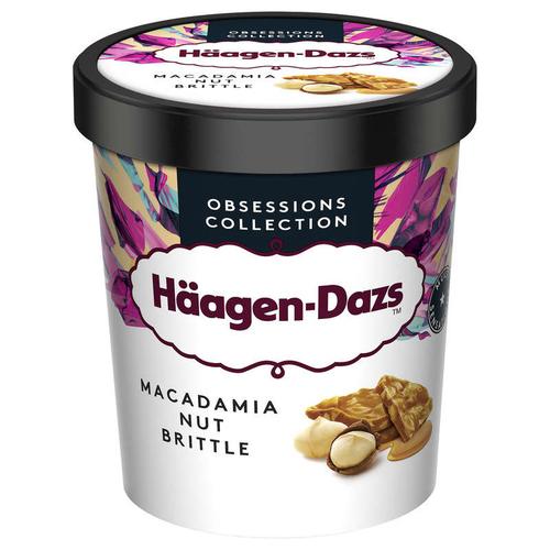 Haagen Dazs Pot Macadamia nut brittle Prem 400g.