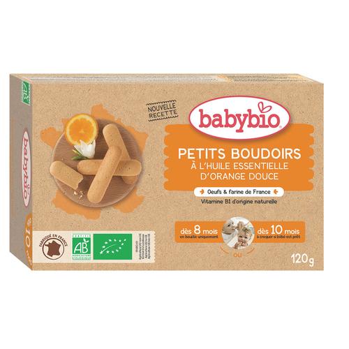 Babybio Petits Boudoirs à l'Huile Essentielle D'Orange Douce Dès 8/10M 120g
