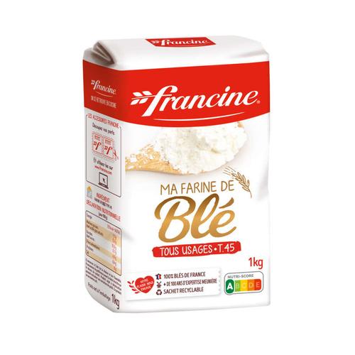 Francine farine de blé type 45 tous usages 1kg