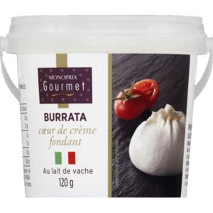 Monoprix Gourmet Burrata au lait de vache 120g