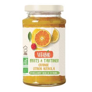 Vitabio Délice Fruits À Tartiner Orange Citron Acérola 290G.