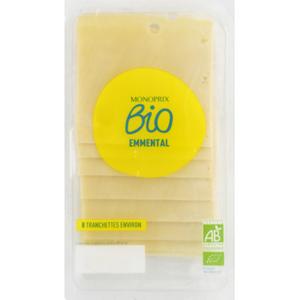 Monoprix Bio emmental en tranche 160g