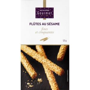 Monoprix Gourmet Flûtes au sésame croquantes 125g