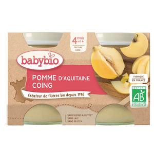Babybio purée de fruits bio 2x130g