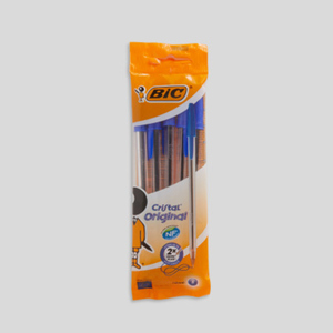 Bic 5 stylos billes Cristal, encre bleue