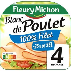 Fleury Michon Blanc de Poulet -25%  De sel 160g