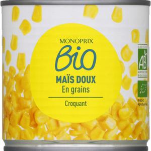Monoprix Bio Maïs Doux En Grains 285g