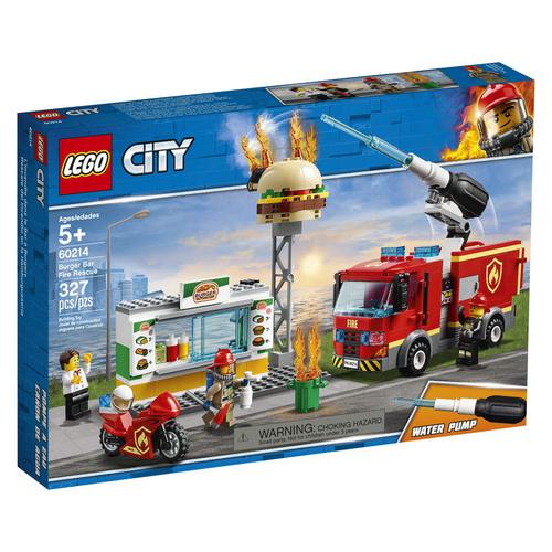 Lego L'intervention des pompiers au restaurant de hamburgers