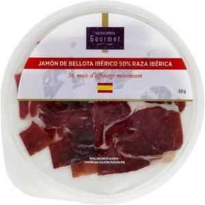 Monoprix Gourmet Jambon de Bellota ibérique en tranches 60g