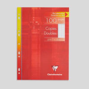 Clairefontaine 100 Copies Doubles A4, Grands Carreaux, 90Gr/M²