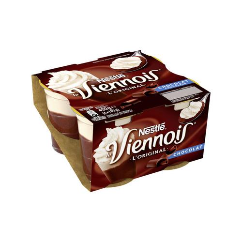 Nestlé dessert lacté au chocolat le pack de 4x100g