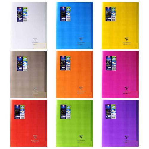 Clairefontaine Cahier 24X32cm, grands carreaux, 96 pages, protège-cahier inclus