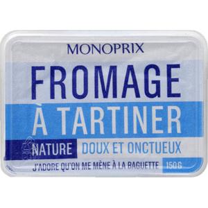 Monoprix Fromage à tartiner nature 150g