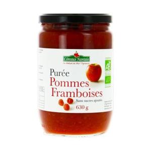 Coteaux Nantais Purée de Pommes Framboises sans Sucres Ajoutés Bio 630g