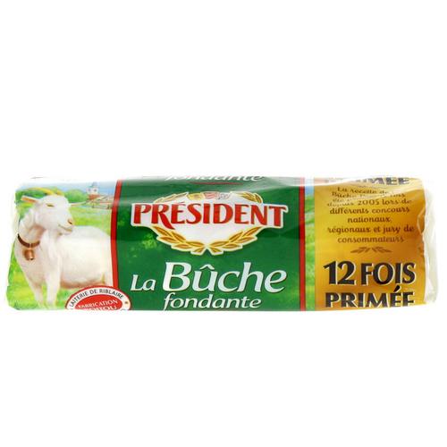 Président La bûche fondante fromage de chèvre 180g