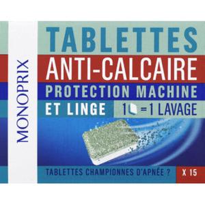 Monoprix Tablettes Anti-Calcaire x15, 225g