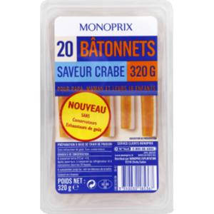 Monoprix Bâtonnets au Crabe 320g