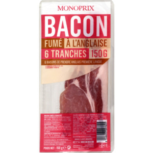 Monoprix Tranches de bacon 150 g