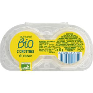 Monoprix Bio Crottins de chèvre 2x60g