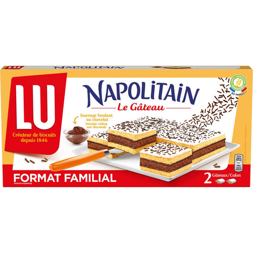 LU Napolitain Le Gâteau format familial 400g