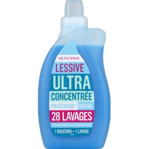 MONOPRIX LESSIVE LIQUIDE ULTRA CONCONCTREE 980ML
