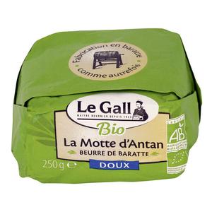 Le Gall Beurre de baratte La Motte d'Antan doux bio 250G.
