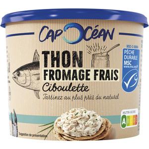 Cap Océan Thon Fromage Frais & Ciboulette 140g.