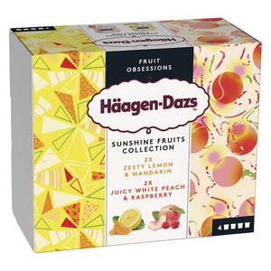 Häagen-Dazs 4 mini Cup Sunshine aux fruits.