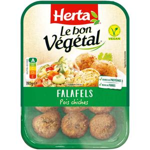 Herta le bon végétal Falafels Pois chiches 190g.